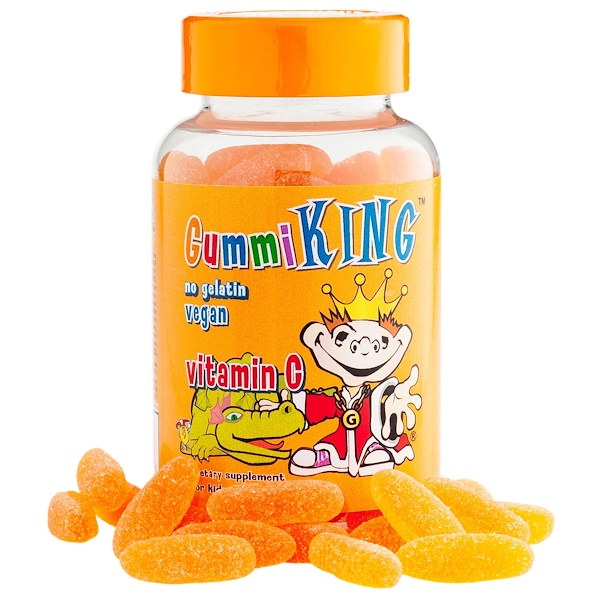Gummi King, Vitamin C for Kids, Natural Orange Flavor, 60 Gummies