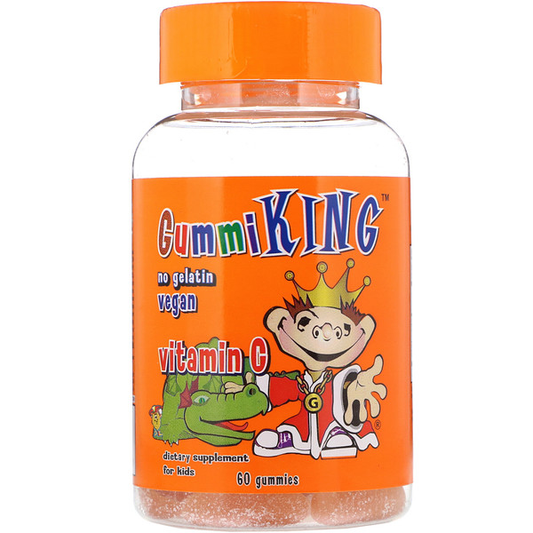 GummiKing, Vitamin C for Kids, 60 Gummies