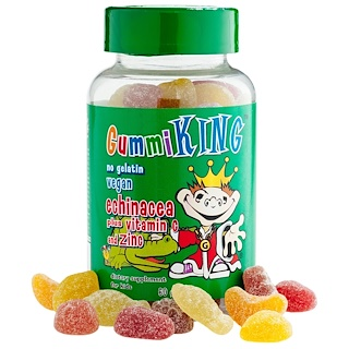 GummiKing, Echinacea Plus Vitamin C and Zinc, For Kids, 60 Gummies