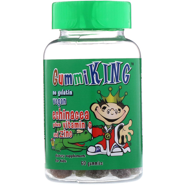 GummiKing, Echinacea Plus Vitamin C and Zinc for Kids, 60 Gummies