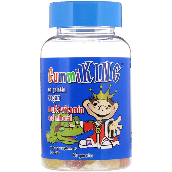 GummiKing, Multi-Vitamin & Mineral, For Kids, 60 Gummies