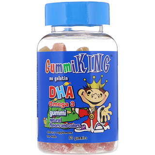 GummiKing, DHA Omega-3 Gummi for Kids, 60 Gummies