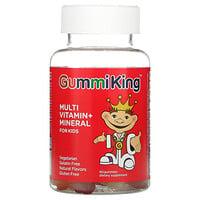 GummiKing, Multi Vitamin + Mineral For Kids, Grape, Lemon, Orange, Strawberry And Cherry Flavor, 60 Gummies