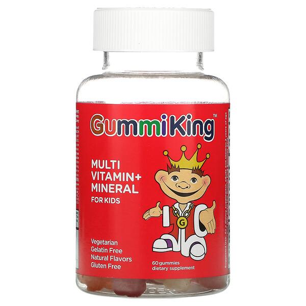 Multi Vitamin + Mineral For Kids, Grape, Lemon, Orange, Strawberry And Cherry, 60 Gummies