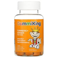 GummiKing, Turmeric + Ginger For Kids, Immunity + Antioxidant + Anti-Inflammatory, Mango, 60 Gummies