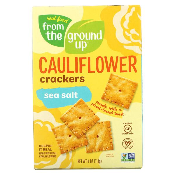 Cauliflower Crackers, Sea Salt, 4 oz (113 g)