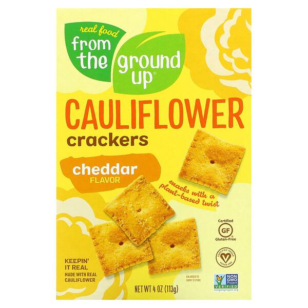 Cauliflower Crackers, Cheddar, 4 oz (113 g)