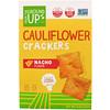 From The Ground Up, Cauliflower Crackers, Nacho Flavor, 4 oz (113 g)