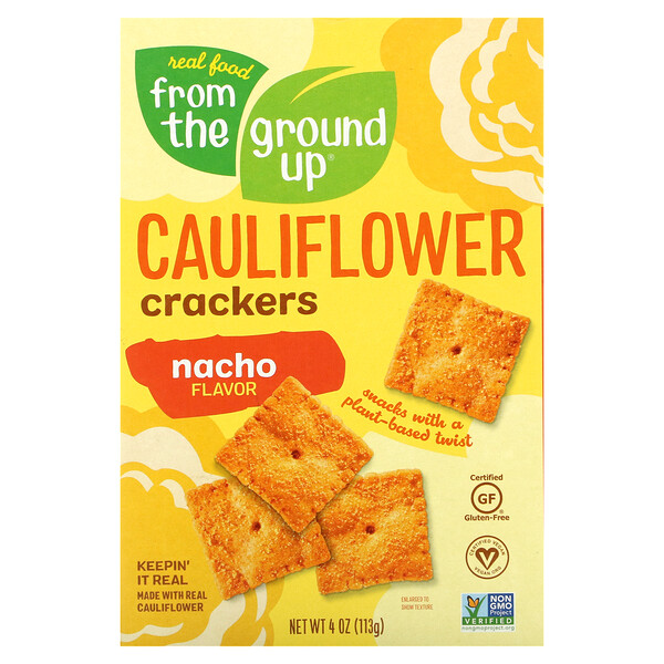 Cauliflower Crackers, Nacho, 4 oz (113 g)