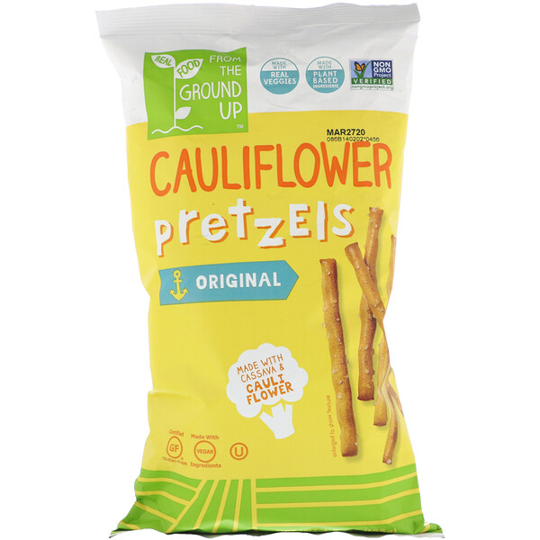 From The Ground Up, Cauliflower Pretzels, Original, 4.5 oz (128 g) (Discontinued Item)