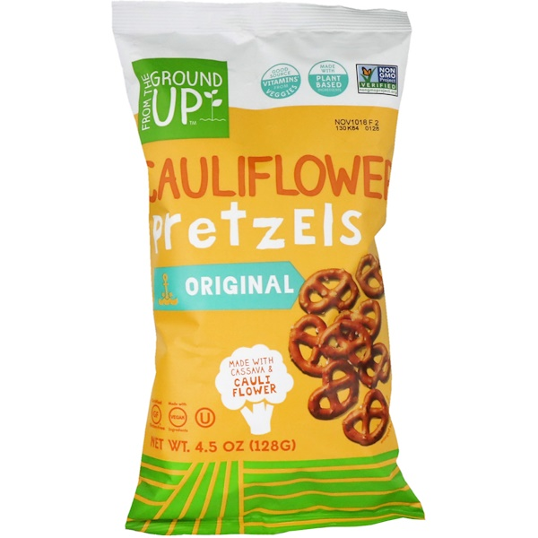 From The Ground Up, Cauliflower Pretzel, Original, 4、5 oz (128 g)