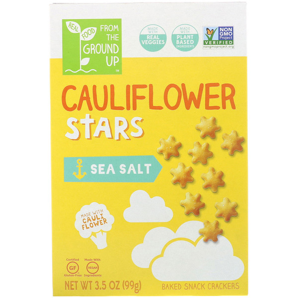 From The Ground Up, Cauliflower Stars, Sea Salt, 3.5 oz (99 g) (Discontinued Item)