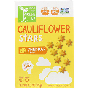 From The Ground Up, Cauliflower Stars, Baked Snack Crackers, Cheddar, 3.5 oz (99 g) отзывы