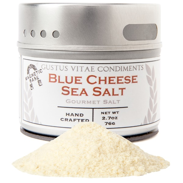 Gustus Vitae, Gourmet Salt, Blue Cheese Sea Salt, 2.7 oz (76 g)