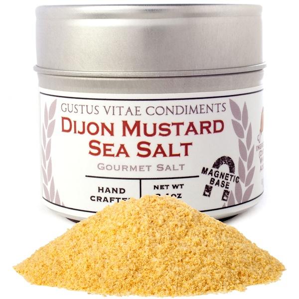 Gustus Vitae, Condiments, Gourmet Salt, Dijon Mustard Sea Salt, 3.1 oz (87 g) (Discontinued Item)
