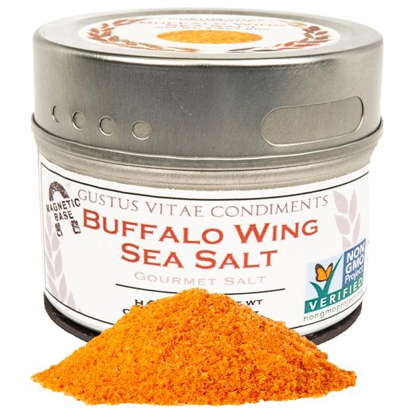 Gustus Vitae, Condiments, Gourmet Salt, Buffalo Wing Sea Salt, 3.1 oz (87 g) (Discontinued Item)
