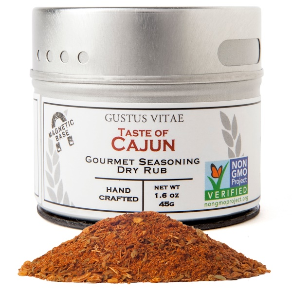 Gustus Vitae, Gourmet Seasoning, Taste of Cajun, 1.6 oz (45 g)