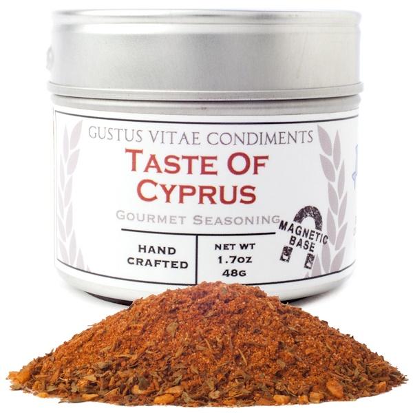 Gustus Vitae, Condiments, Gourmet Seasoning, Taste of Cyprus, 1.7 oz (48 g) (Discontinued Item)