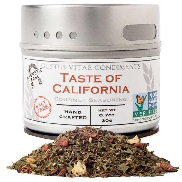 Gustus Vitae, Gourmet Seasoning, Taste of California, 0.7 oz (20 g) (Discontinued Item)