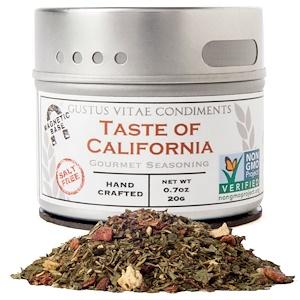 Густус Витаэ, Gourmet Seasoning, Taste of California, 0.7 oz (20 g) отзывы покупателей