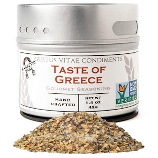Gustus Vitae, Gourmet Seasoning, Taste of Greece,  1.4 oz (42 g)