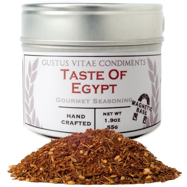 Gustus Vitae, Condiments, Gourmet Seasoning, Taste of Egypt, 1.9 oz (55 g) (Discontinued Item)