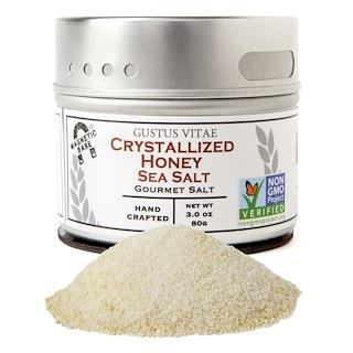 Gustus Vitae, Gourmet Salt, Crystallized Honey Sea Salt, 3 oz (80 g)