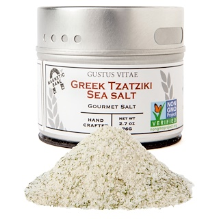 Gustus Vitae, Gourmet Salt, Greek Tzatziki Sea Salt, 2.7 oz (76 g)
