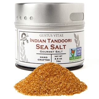 Gustus Vitae, Gourmet Salt, Indian Tandoori Sea Salt, 2.6 oz (74 g)