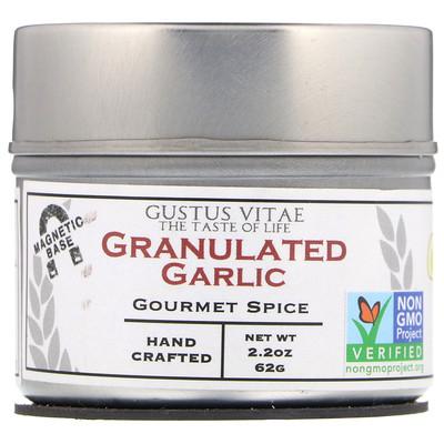 Gustus Vitae Специи для гурманов, гранулированный чеснок, 2, 2 унц. (62 г)  - Купить