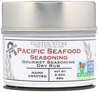 Gustus Vitae, Aderezo seco gourmet para sazonar, para mariscos del pacifico, 2.3 oz (65 g)
