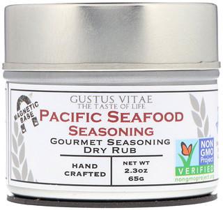 Gustus Vitae, Gourmet Seasoning Dry Rub, Pacific Seafood Seasoning, 2.3 oz (65 g)