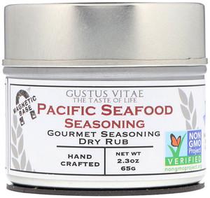 Густус Витаэ, Gourmet Seasoning Dry Rub, Pacific Seafood Seasoning, 2.3 oz (65 g) отзывы