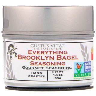 Gustus Vitae, Everything Brooklyn Bagel Seasoning, 1.9 oz (53 g)