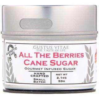 Gustus Vitae, Cane Sugar, All The Berries, 2.1 oz (59 g)