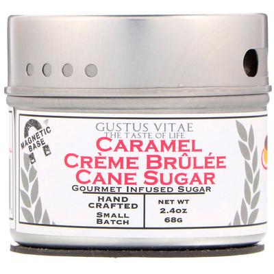 Купить Gustus Vitae Тростниковый сахар, Карамельный крем брюле, 2, 4 унц. (68 г)