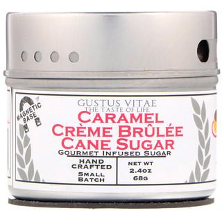Gustus Vitae, Azúcar de caña, sabor a caramelo y crème brûlée, 2,4 oz (68 g)