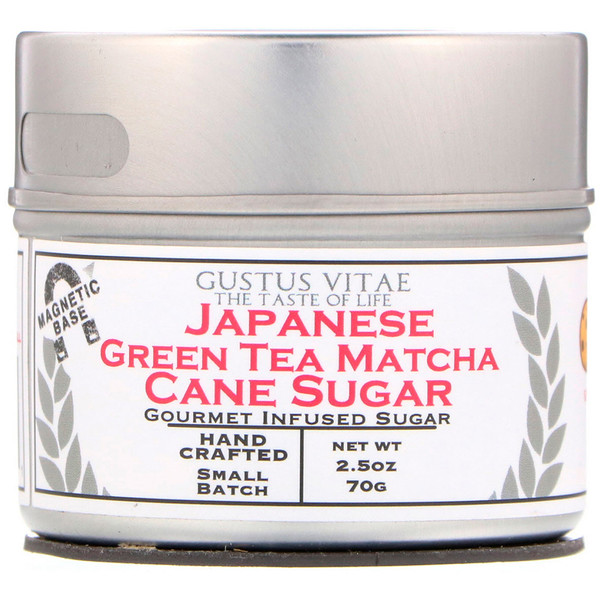 Gustus Vitae, Cane Sugar, Japanese Green Tea Matcha, 2.5 oz (70 g) (Discontinued Item)