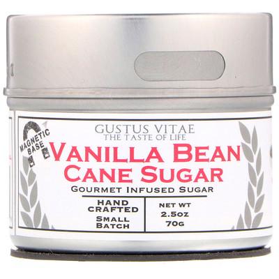 Купить Gustus Vitae Тростниковый сахар, Стручки ванили, 2, 5 унц. (70 г)