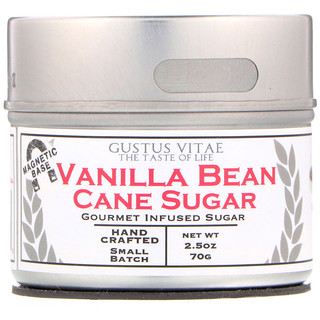 Gustus Vitae, Azúcar de caña, vaina de vainilla, 2,5 oz (70 g)