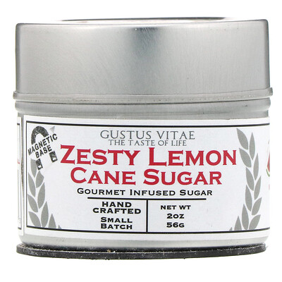Купить Gustus Vitae Тростниковый сахар, Пикантный лимон, 2 унц. (56 г)