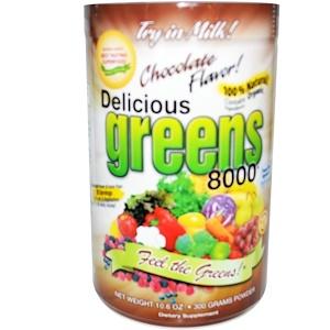 Гринс Ворлд, Delicious Greens 8000, Chocolate Flavor, Powder, 10.6 oz (300 g) отзывы покупателей