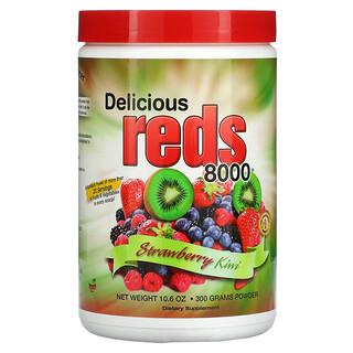 Greens World, 딜리셔스 레드 8000, 딸기 키위, 10.6 온스 (300 g)