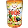 Greens World, Delicious Reds 8000, Fruit Punch!, 10.6 oz (300 g) Powder (Discontinued Item)