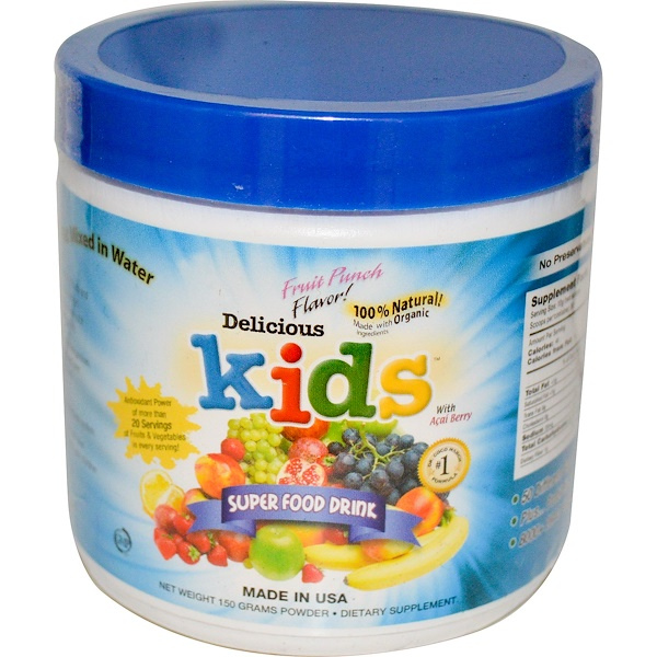 Greens World, Delicious Kids, Super Food Drink, Fruit Punch Flavor, 5.3 oz (150 g) (Discontinued Item)