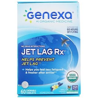 Genexa, ジェットラグRx、バニララベンダー風味、チュアブル60錠