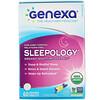 Genexa, Sleepology، عامل مساعد النوم العضوي، نكهة فانيلا اللافندر، 60 قرص قابل للمضغ.