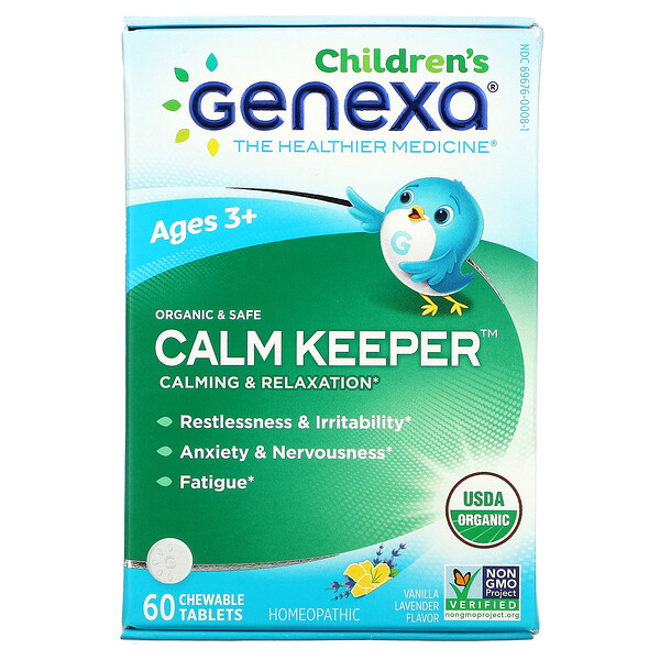 Children's Calm Keeper, Calming & Relaxation, Ages 3+, Vanilla Lavender, 60 Chewable Tablets