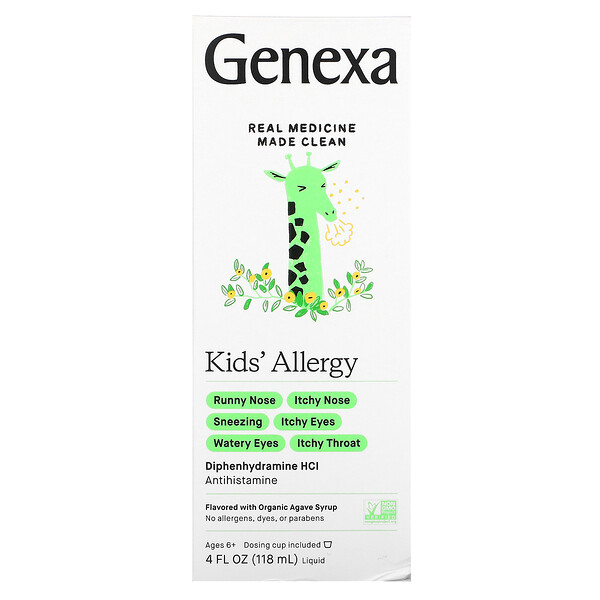 Kid's Allergy, Ages 6+, Organic Agave Syrup, 4 fl oz (118 ml)