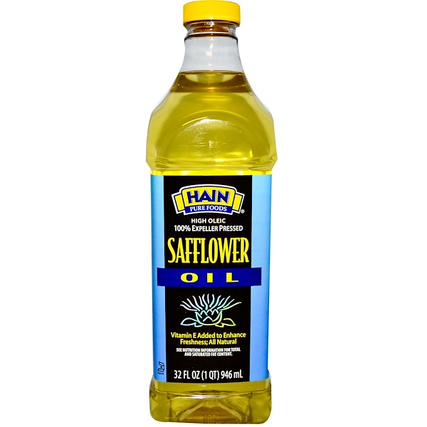 Hain Pure Foods, Safflower Oil, 32 fl oz (946 ml) (Discontinued Item)